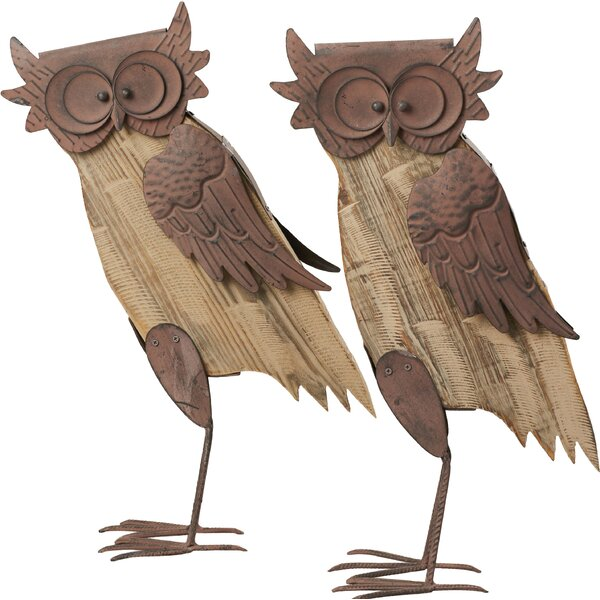 Barn Wood Owl Statue by Loon Peak
