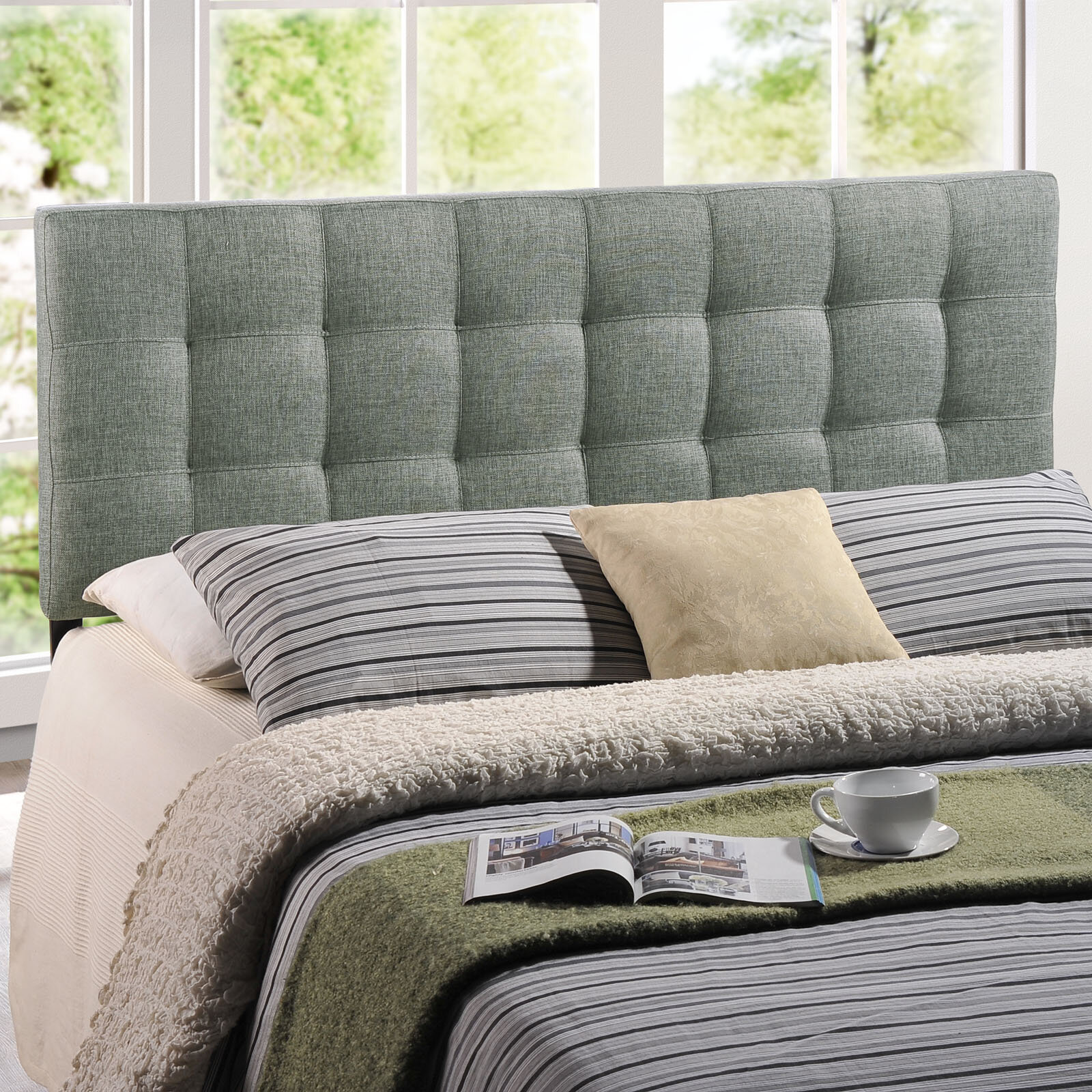 Zipcode Design Francis Upholstered Panel Headboard
