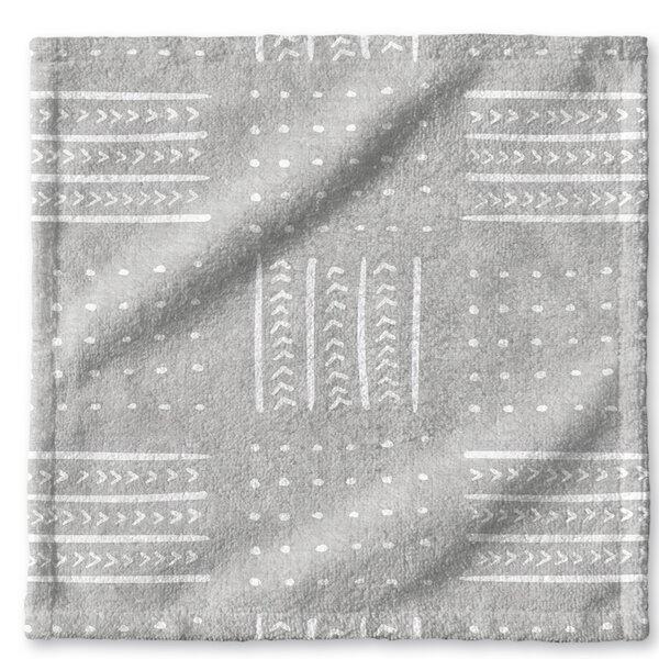 Dalton Geometric Cloth Washcloth with Single Sided Print by Mistana