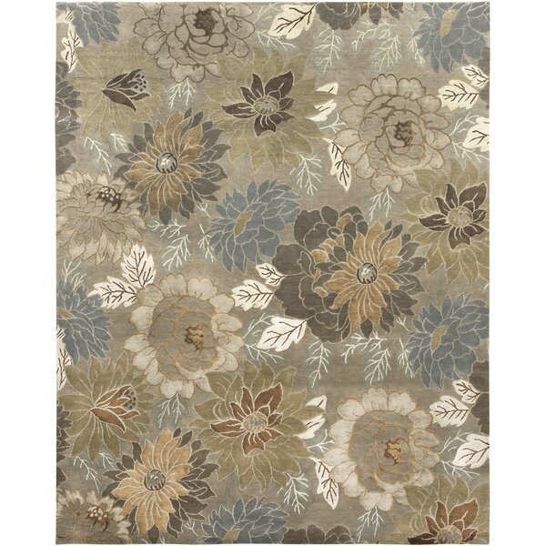 Coulibaly Soft Camel Hand-Knotted Rug by Red Barrel Studio