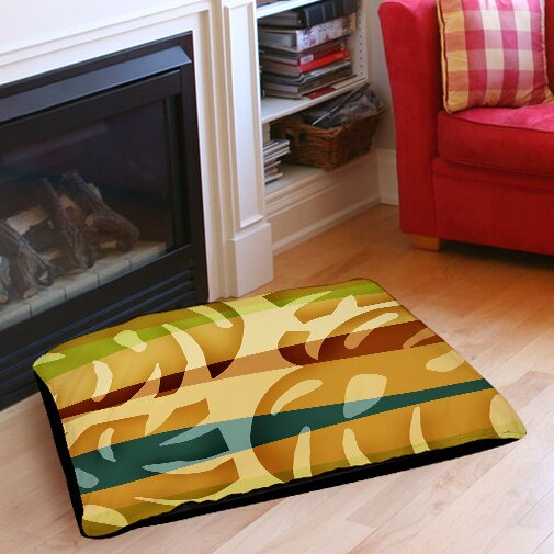 Tropical Leaf 1 Indoor/Outdoor Pet Bed by Manual Woodworkers & Weavers