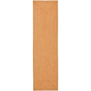 Compare prices Woodlawn Hand Woven Beige/Orange Area Rug By Bay Isle Home
