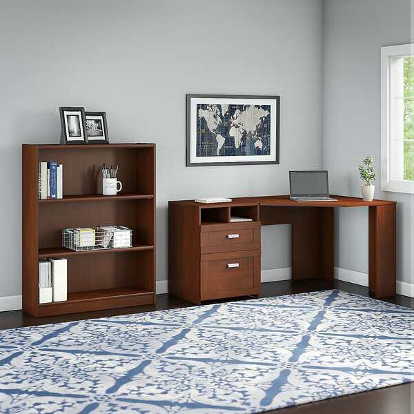 Wheaton 2 Piece L-Shape Desk Office Suite by Latitude Run