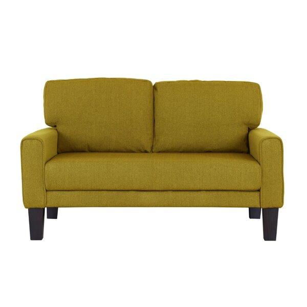 Dakota Modern Upholstery Loveseat By Zipcode Design
