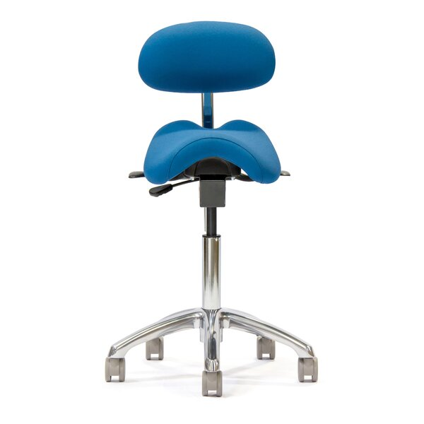 Height Adjustable Advanced Saddle Stool with Backrest by ErgoLab