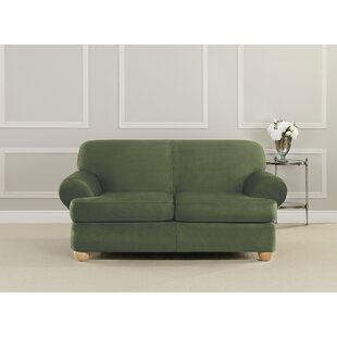 Ultimate Stretch T-Cushion Loveseat Slipcover by Sure Fit
