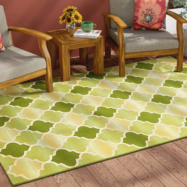 Alice Green Indoor/Outdoor Area Rug by Winston Porter