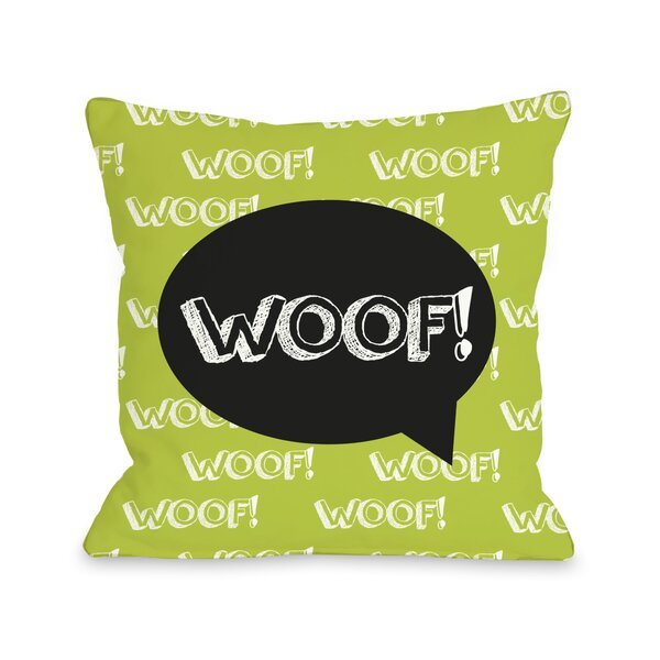 Doggy Décor Woof Talk Bubble Throw Pillow by One Bella Casa