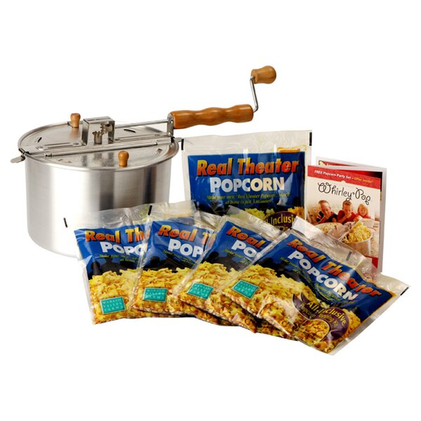 Whirley Pop 7 Piece Stove Top Popcorn Popper Set by Wabash Valley Farms