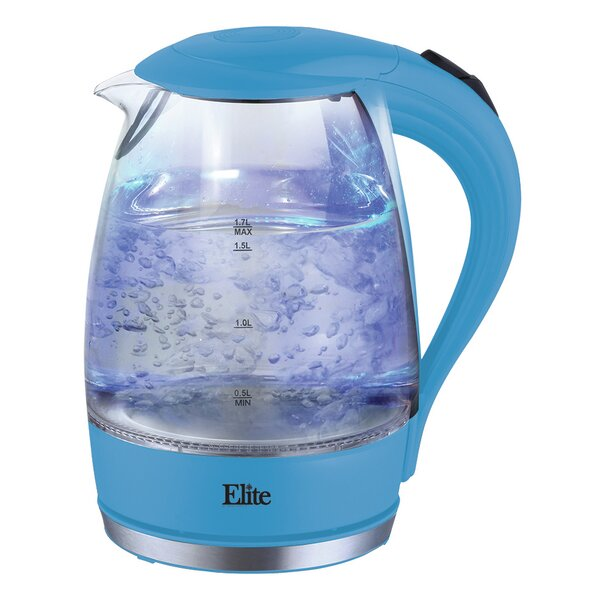 1.7 Qt. Glass Electric Tea Kettle by Elite by Maxi-Matic