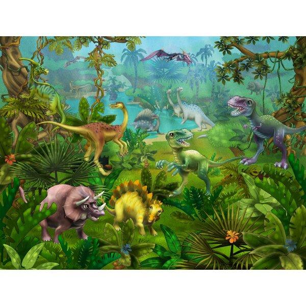 Dinosaur Utopia Wall Mural by Wallhogs