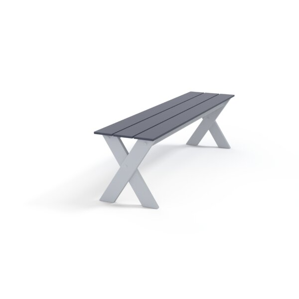 Plymouth Bay Marine Grade Aluminum Garden Bench (Set of 2) by Telescope Casual