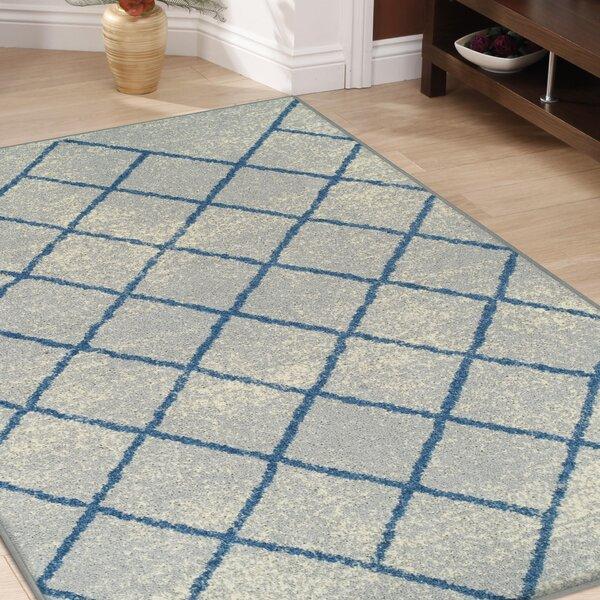 Verity Lattice Gray Area Rug by Wrought Studio