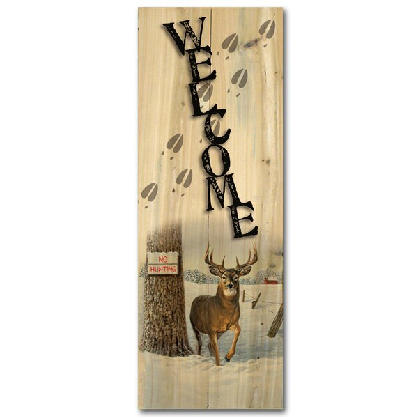 Welcome No Hunting Graphic Art Plaque by WGI-GALLERY