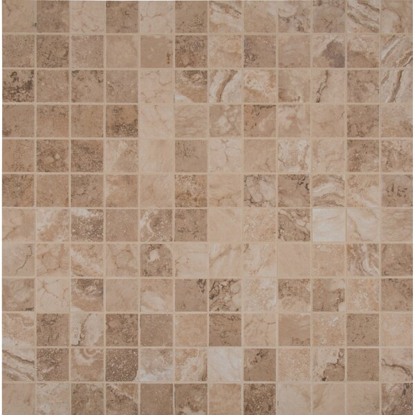 Napa Glazed Mesh Mounted 2 x 2 Ceramic Mosaic in Brown by MSI