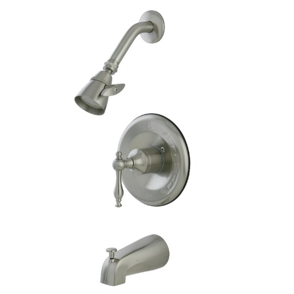 Tub And Shower Faucet With Valve And Diverter By Kingston Brass