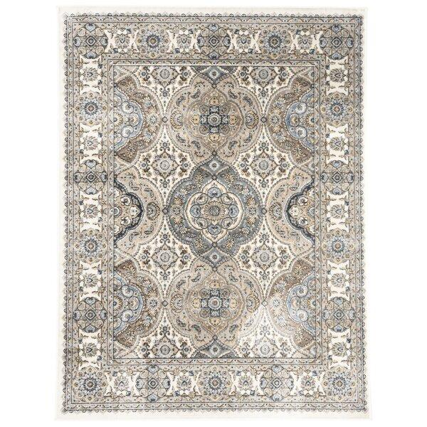 Carolus Ivory/Blue Area Rug by Darby Home Co