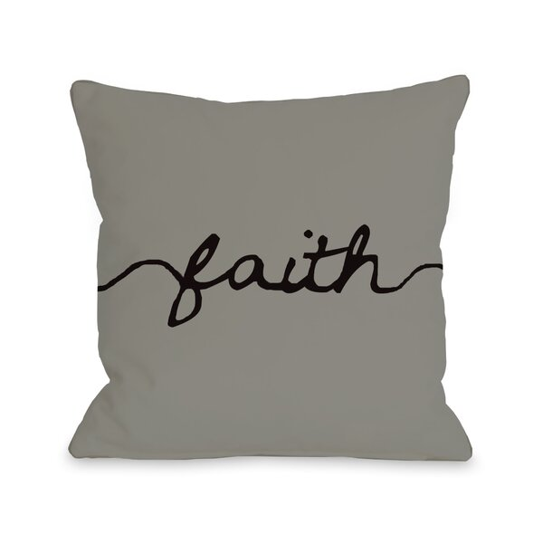 Faith Mix and Match Throw Pillow by One Bella Casa