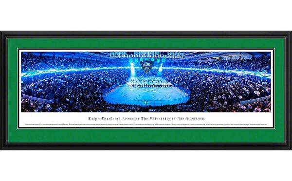 NCAA University of North Dakota - Hockey Anthem Deluxe Framed Photographic Print by Blakeway Worldwide Panoramas, Inc
