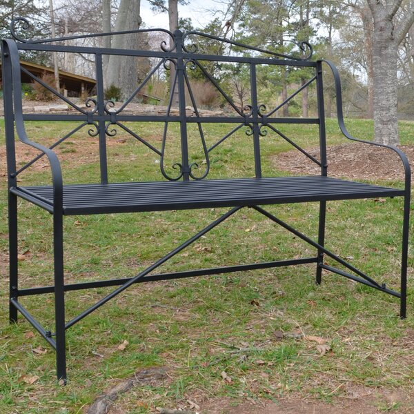 Amedori Metal Garden Bench by Alcott Hill