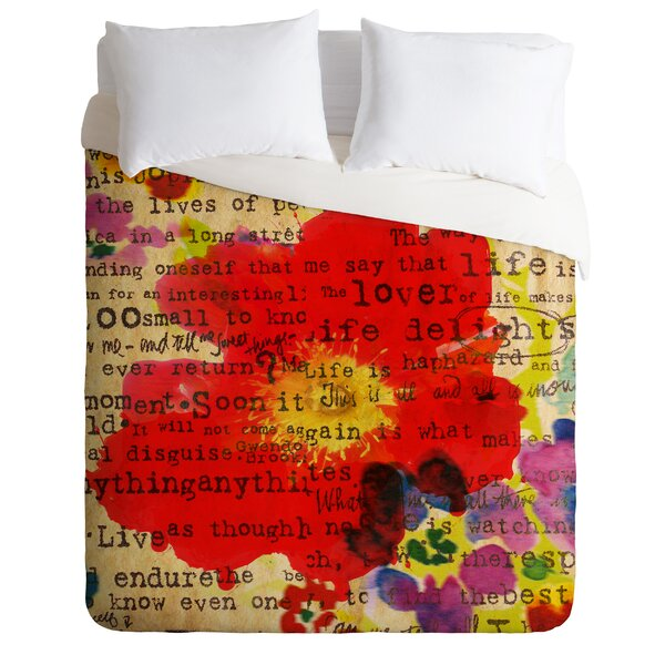 Poppy Poetry Duvet Cover