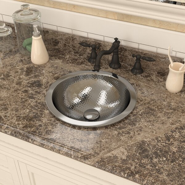 Celestial Series Metal Circular Drop-In Bathroom Sink by ANZZI