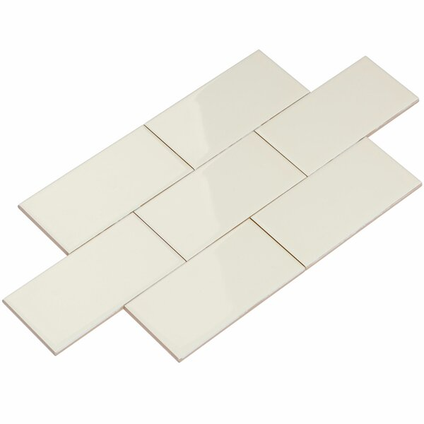 3 x 6 Ceramic Subway Tile in Beige by Giorbello