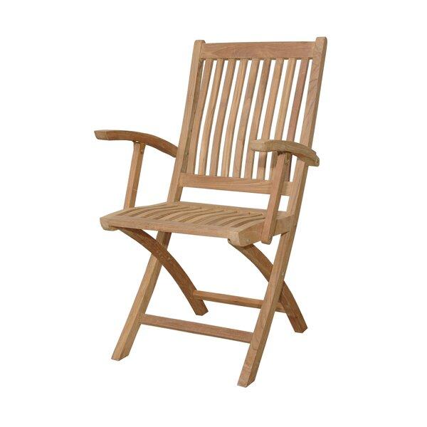 Tropico Folding Teak Patio Dining Chair (Set of 2) by Anderson Teak Anderson Teak