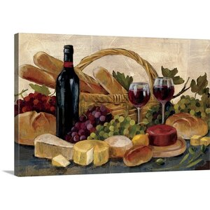 'Tuscan Evening Wine' by Silvia Vassileva Painting Print on Canvas by Great Big Canvas