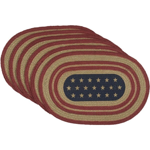 Ohta Star Flag Oval Jute Placemat (Set of 6) by August Grove