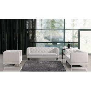 Lovely Alsatia Leather 3 Piece Living Room Set Part 18