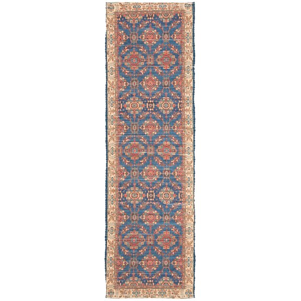 Abington Hand Tufted Cotton Navy Area Rug  by Bungalow Rose