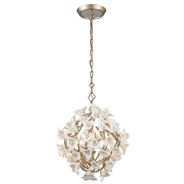 Lily 4-Light Unique / Statement Globe Chandelier by Corbett Lighting Corbett Lighting
