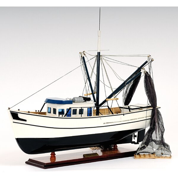Shrimp Model Boat by Old Modern Handicrafts