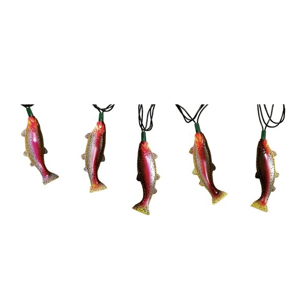 10-Light 10 ft. Rainbow Trout String Lights by River's Edge Products