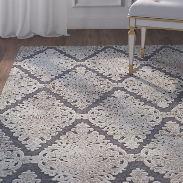 McNamara Woven Gray Area Rug by House of Hampton