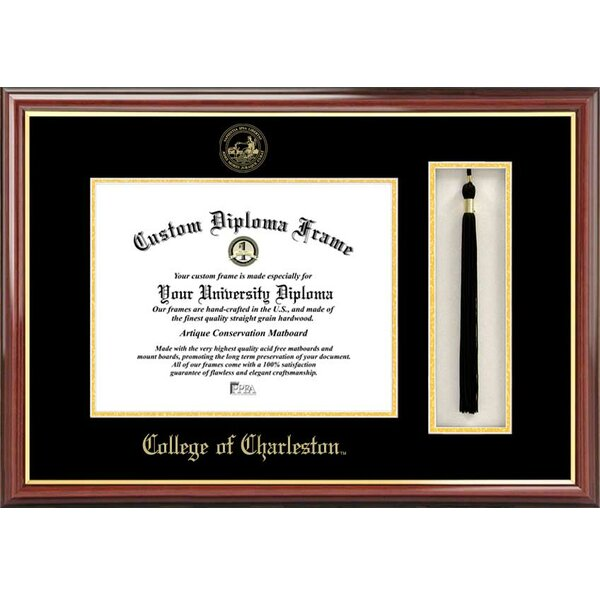 NCAA College of Charleston Tassel Box and Diploma Picture Frame by Campus Images