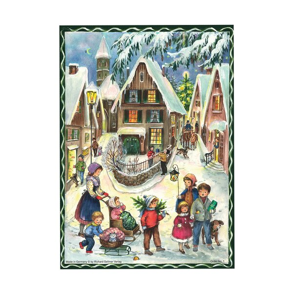 Sellmer Village Scene Advent Calendar by The Holiday Aisle