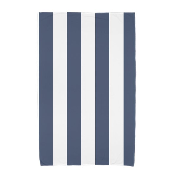London Rugby Stripe Print Beach Towel by Breakwater Bay