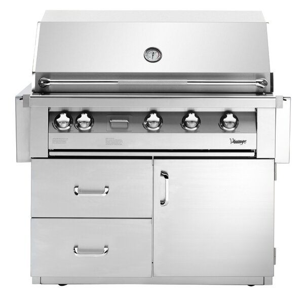 Vintage 4-Burner Built-In Convertible Gas Grill wi