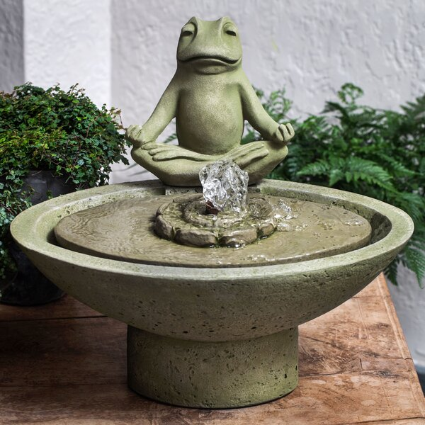 Meditation Concrete Garden Terrace Fountain by Campania International