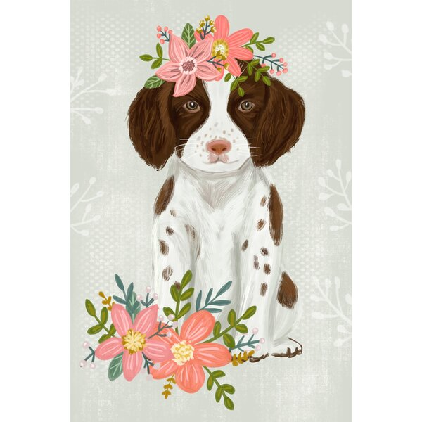 Butte Floral Pup - Tall by Olivia Gibbs Canvas Art by Harriet Bee