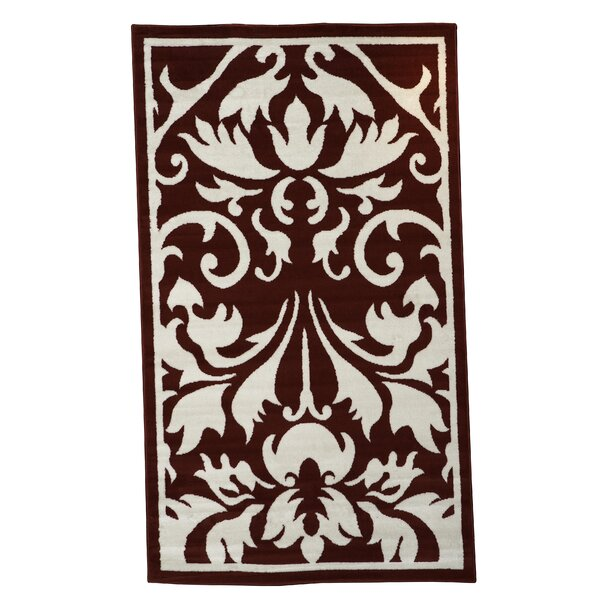 Zeigler Red/Ivory Area Rug by Charlton Home