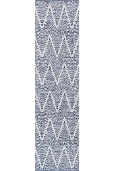 Simplicity Hand-Woven Cotton Navy Area Rug by Pasargad