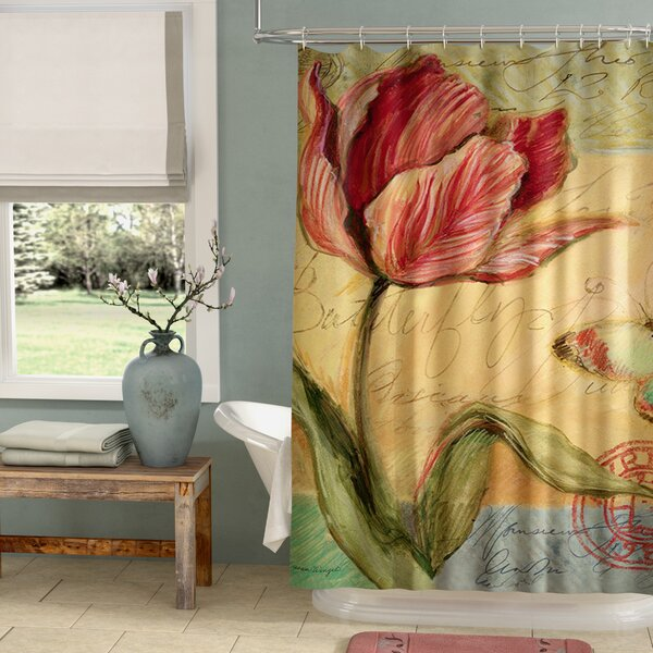 Loretta Tulip Shower Curtain by August Grove