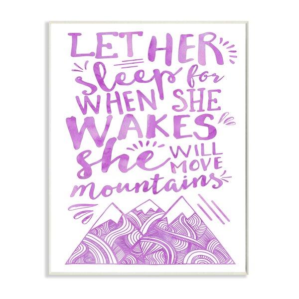 Kleckner Let Her Sleep Purple Mountains Wall Plaque by Zoomie Kids
