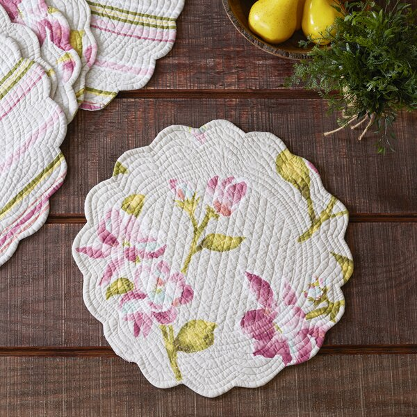 Armitage Round Quilted Placemats (Set of 6) by Charlton Home