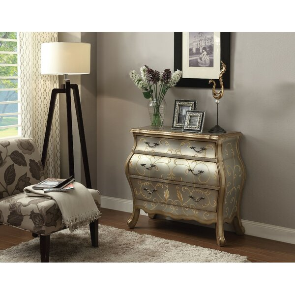 Maryville 3 Drawer Chest by Rosdorf Park