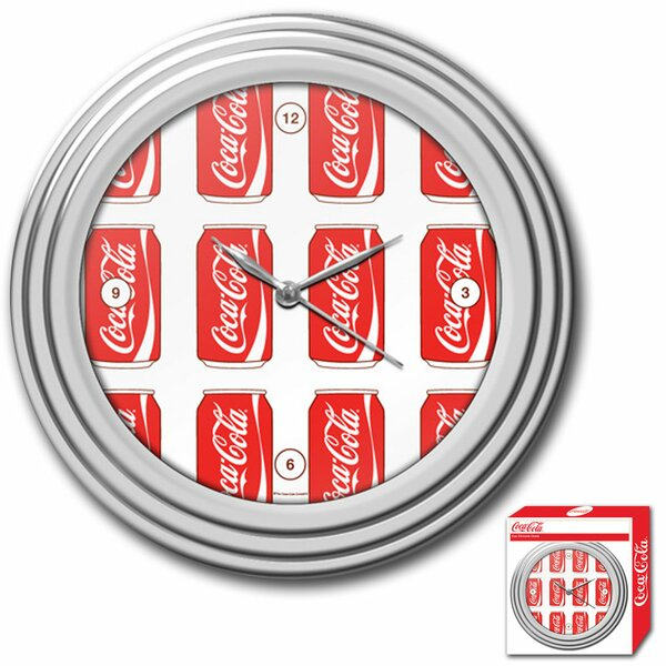 Coca Cola 11.75 Cans Style Wall Clock by Trademark Global