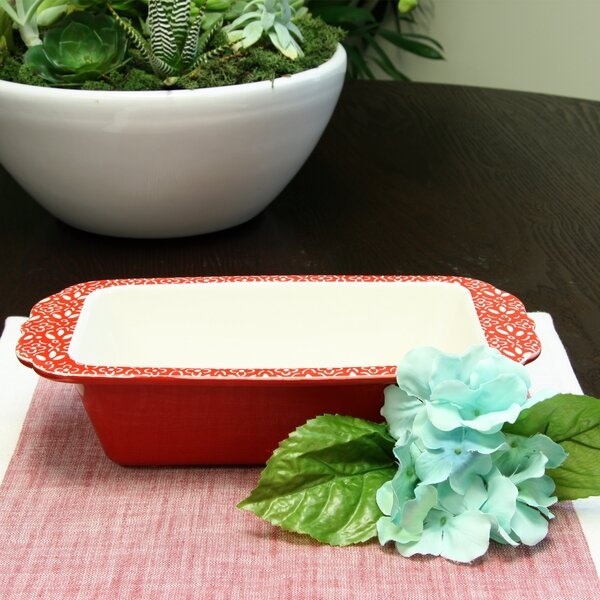 General Store Diner Stoneware Loaf Pan by Gibson